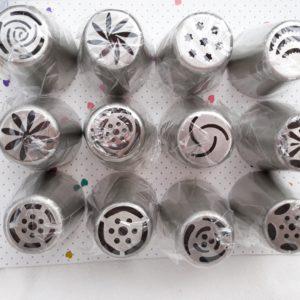 Tylki cukiernicze rosyjskie 3D stalowe 12szt/1753
