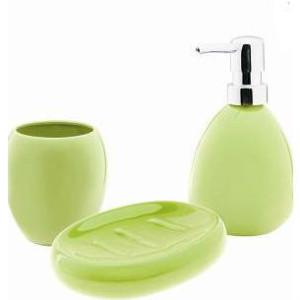 Ceramiczny zestaw łazienkowy  ARTE zielony