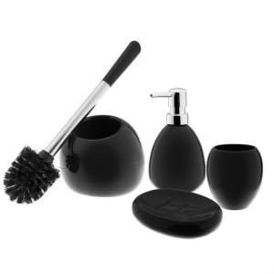 Ceramiczny zestaw łazienkowy Arte czarny