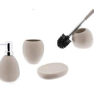 Ceramiczny zestaw łazienkowy ARTE beżowy 1