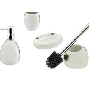 Ceramiczny zestaw łazienkowy  ARTE kremowy