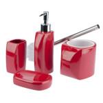 Ceramiczny zestaw łazienkowy LINEO czerwony