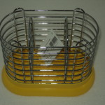 Ociekacz na sztućce podstawka żółta /0005