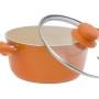 Garnek ECO Ceramic pomarańczowy