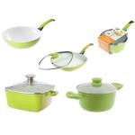Zestaw garnków ceramicznych linia Ceramik ECO indukcja /zielony