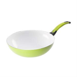 Patelnia Ceramiczna WOK zielona 28cm art 4509