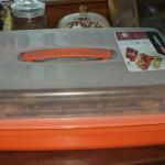 Pojemnik do ciasta płaski pomaranczowy