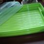 Pojemnik na ciasto plaski zielony otw