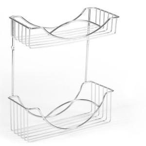 Półka druciana łazienkowa dwupoziomowa / 0052