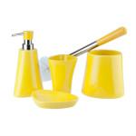 Ceramiczny zestaw łazienkowy SILVIA żółty