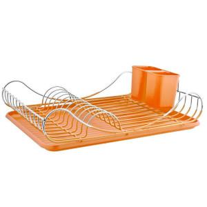 Suszarka  do naczyń silikonowana pomarańczowa 43x33x12 /3119