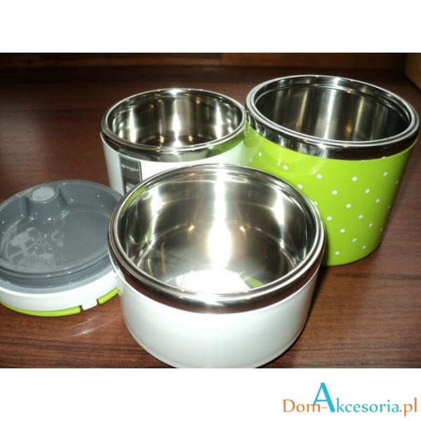 Termos obiadowy menażka 3 poj zielony z uszczelką