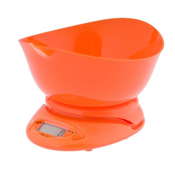 Waga kuchenna elektroniczna pomarańczowa 3kg