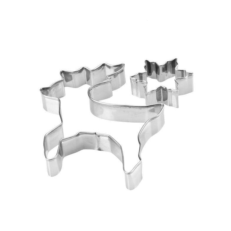 Wykrawaczki metalowe 2szt Renifer