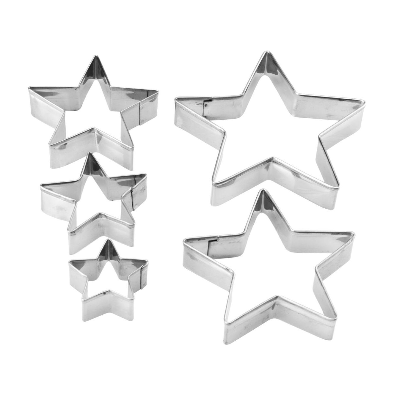 Wykrawaczki metalowe 5szt / 6583 gwiazda
