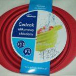 Cedzak silikonowy składany 20,5cm czerwony /4966