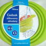 Cedzak silikonowy składany 20,5cm zielony /4966
