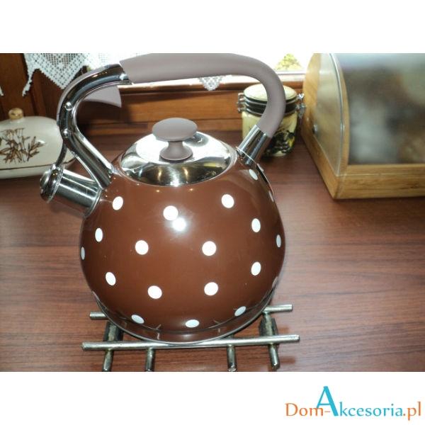 Czajnik cekoladowy w kropki