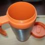 kubek termiczny pomarańczowy art.4852. otw