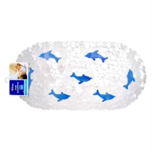 Mata łazienkowa wanna niebieskie delfinki