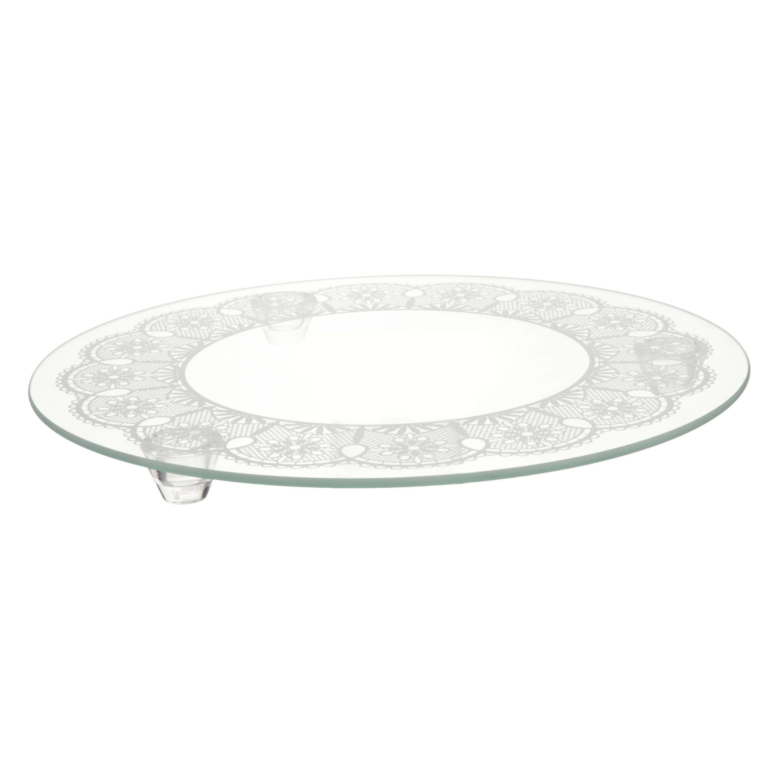 Patera szklana zdobiona art 6001