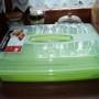 Pojemnik na ciasto płaski zielony /0415