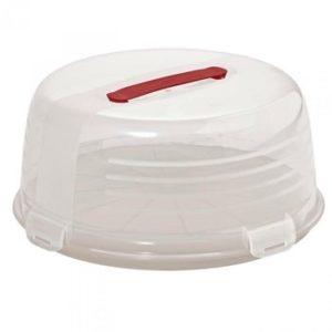 Pojemnik na ciasto tort okrągły kremowy