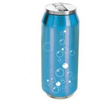 Kubek termiczny puszka Bańki 500ml / niebieska