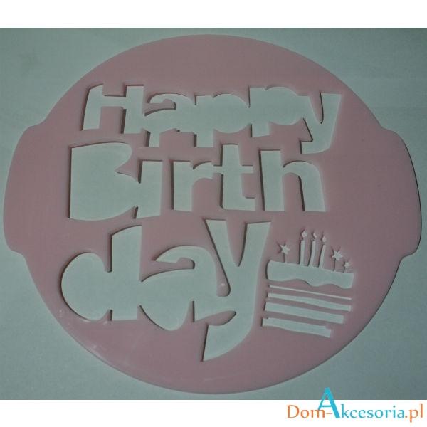 szablon do dekoracji HAPPY BIRTHDAY