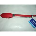Silikonowe szczypce kuchenne czerwone