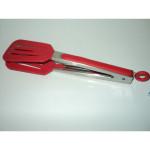 Silikonowe szczypce kuchenne czerwone 27cm / 4014