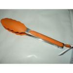 Silikonowe szczypce kuchenne pomarańczowe-4005