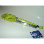Silikonowe szczypce kuchenne zielone 27cm / 4014