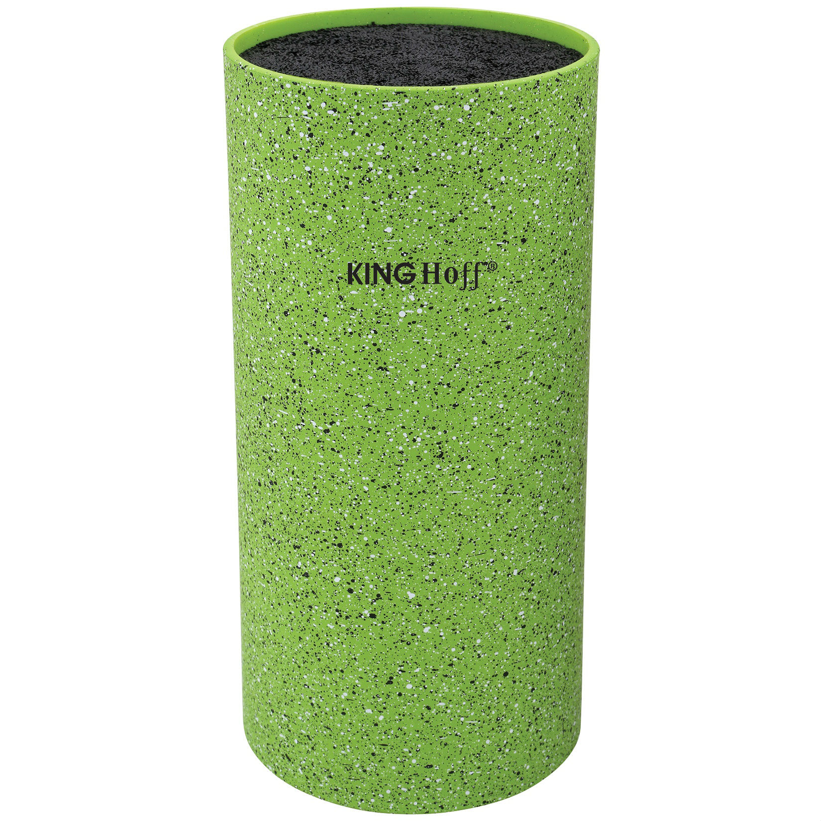 Uniwersalny blok stojak na noże zielony nakrapiany