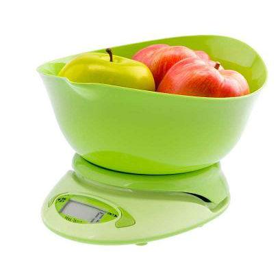 Waga kuchenna elektroniczna zielona 3 k
