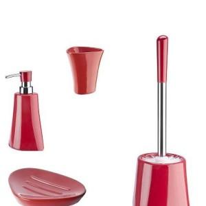 Ceramiczny zestaw łazienkowy SILVIA czerwony