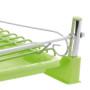 Silikonowana suszarka do naczyń zielona - podstawka